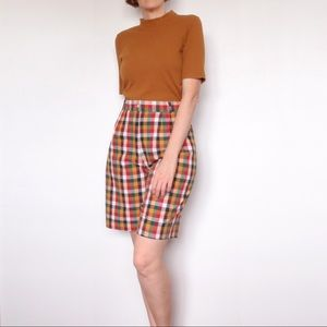 Vintage Colourful Gingham Check Cotton Shorts Sz10